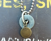 Sun and Moon- Mens Upcycled Hardware Necklace