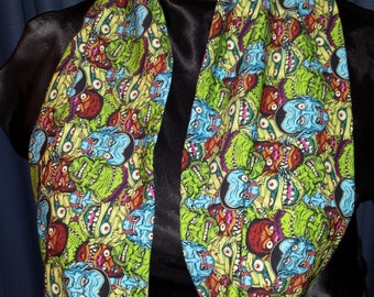 Classic Movie Monsters Pulp Comic Custom Cotton/Lycra Knit Infinity Scarf