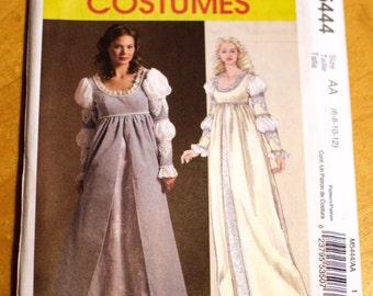 Historical dress pattern, McCall's M5444, size AA.