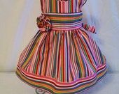"""Doll Dress, 18"""" Stripe Dress with Flower, Gift for Girls, USA Made in the USA, Gift for Girls, Made in the USA, #2"""