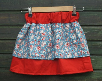 Circus Parade Handmade Children's Gathered Skirt 1-2 Years