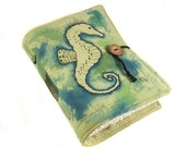 Seahorse, Journal, Painted Canvas