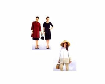 Womens Dress and Coat Burda 7102 Sewing Pattern Size 18-20-22-24-26-28-30-32 UNCUT