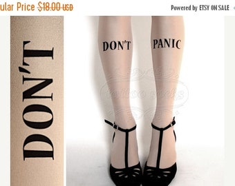 15%SALE/endsAUG30/ Don't Panic TATTOO gorgeous thigh-high stockings Ultra Pale