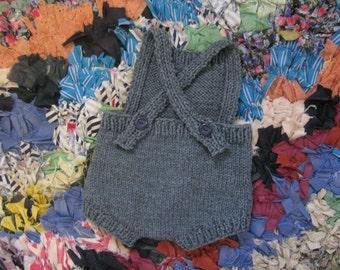 Gray Wool Playsuit