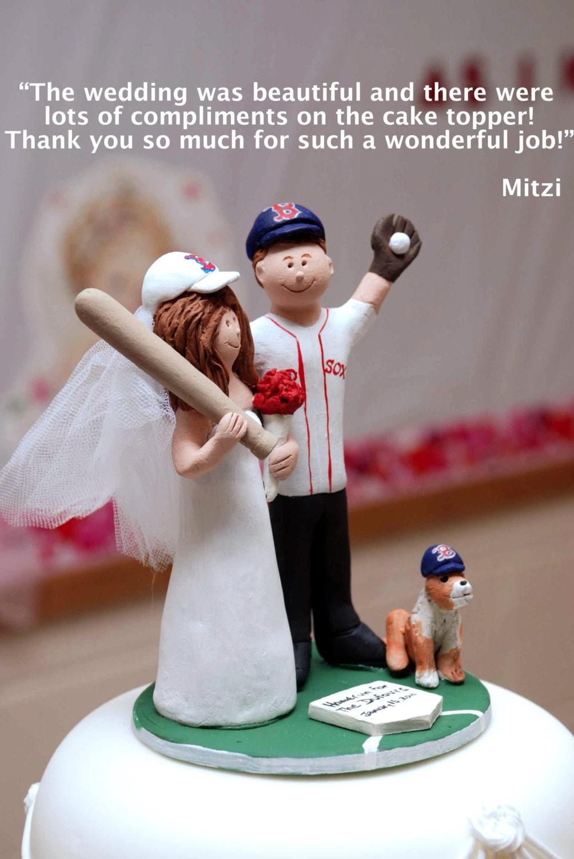 boston sox baseball wedding cake topper new york
