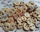 60 Antique Bone Buttons. Mostly Two Hole. Shabby Beauties. Reenactors. Lot 2.