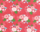 SALE - Gooseberry - Floral Bouquet in Berry Pink: sku 5010-13 cotton quilting fabric by Lella Boutique for Moda Fabrics - 1 yard
