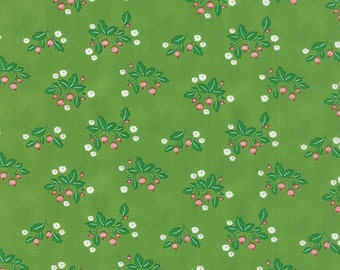 SALE - Gooseberry - Gooseberry Patch in Leaf Green: sku 5011-15 cotton quilting fabric by Lella Boutique for Moda Fabrics - 1 yard