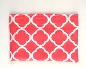 Reusable Snack Bag in Coral, Summer Lunch Bag, Preppy and Fun Snack Bag, Sandwich Bag