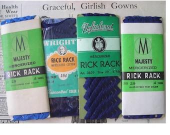 Four Packaages of Vintage Cotton Rickrack