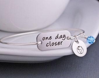 One Day Closer Bracelet, Deployment Jewelry, Military Deployment Bracelet, Personalized, Military Wife