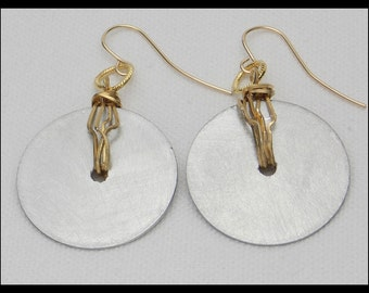 CHANTAL - Handforged Pewter & Bronze Wire Dramatic Statement Earrings