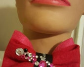 Lava Love Sparkling Zipper Bowtie Pin by IM.BUTTERFLYCREATIONS