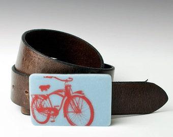 Fused Glass Bike Buckle