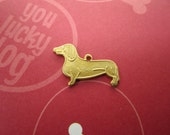 Dachshund Charm Pet Dog Supplies Brass Canine on Etsy-Quantity Choice