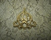 Art Deco Focal Chandelier Large Brass Jewelry Charms on Etsy x Quantity Choice