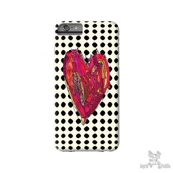 Polka Dot iPhone case, Heart iPhone Case, iPhone 7 Case, iPhone 7 Plus Case, iPhone 6s case, iphone 8 case, iPhone 8 plus case, S8 Cases