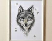 Wolf - Print of an Original Watercolor Painting