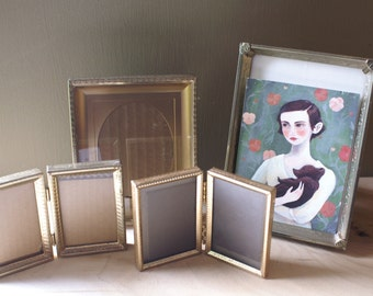 Vintage Gold Tone Picture Frames, Instant Collection Lot