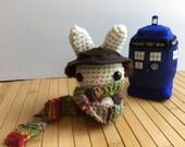 The Doctor Moon Bun - Fourth Doctor Amigurumi Bunny Rabbit - Tom Baker