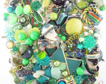 20% OFF - Craft Jewelry - Over 1 Pound of Jewelry - Verdant Green