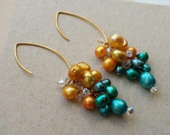 Pear Pearl Drop Earrings