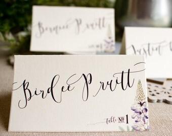 Texas Bluebonnet Place Cards - Texas wedding reception escort cards - wildflower wedding - spring garden wedding - bluebonnets - wild flower