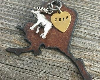 ALASKA Christmas Ornament SMALL, Alaska Ornament, Christmas Gifts 2017, Personalized Gift, State Christmas Ornaments, ALASKA Ornaments