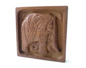 Ackerman Modernist Carved Wood Panel  Elephant ERA  Panelcarve 1970 1960 Evelyn Ackerman