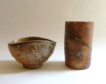SUMMER SALE Modernist Studio Pottery Pair