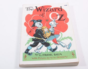 The Wizard of Oz Vintage 1950s Reprint Book Paperback With Illustrations - Great Shape!