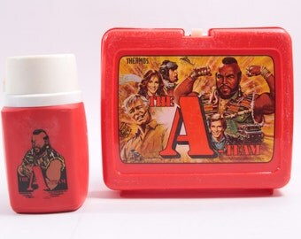 Vintage A Team Aladdin Lunch Box Mr. T With Thermos