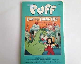 Puff the Magic Dragon 80s Cartoon - Land of the Living Lies - Picture Book