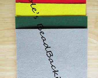 Nicole's BeadBacking 12x9 NBB 5 colors  Bead Embroidery Soutache Shibori Beading Free Tuts