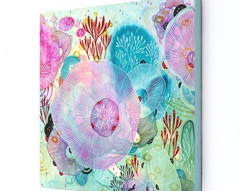 Canvas Art Print, Abstract Wall Art, Large print on Canvas, Giclee Canvas Print, Framed Canvas Artwork, Reef