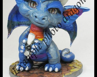 Make to Custom order Polymer Clay Graduation Dragon