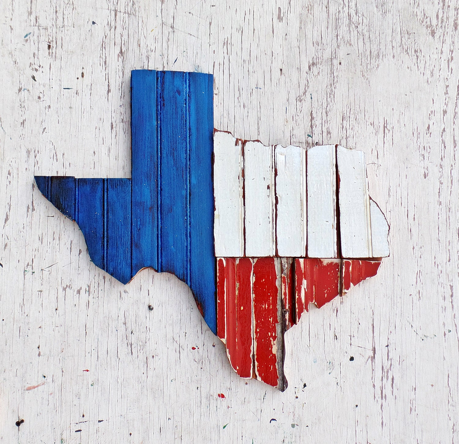 Texas Wall Art Reclaimed Wood Decor Rustic State Outline