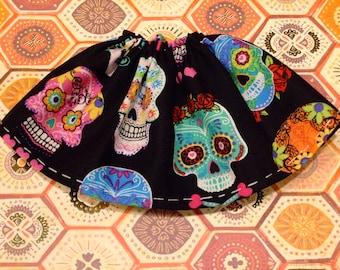 Blythe / DAL Skirt - Many Colorful Sugar Skulls