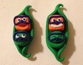 Set of 2 Scuba buddies peapod magnets- Reserved for Pam