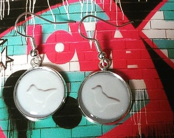 Ecstacy............ White Dove Earrings