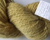 Golden Karakul. Handspun yarn handmade dyed sheep wool Karakul Sheep Massachusetts Goldenrod knitting crochet fleece fiber natural hank