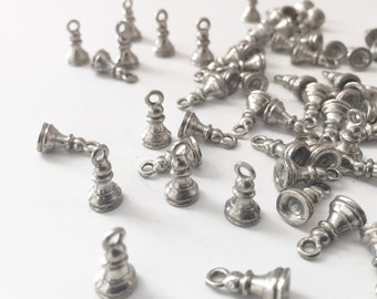 22 Silver Pewter Chess Piece Pawn Charms