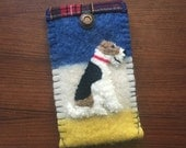 RESVD Wire Fox Terrier Dog Samsung Galaxy 6 Phone Case, Vintage Wool