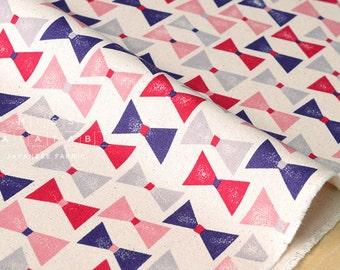 Japanese Fabric Kokka Trefle-L Ribbons - pink, purple - fat quarter