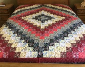 Queen size Patchwork Machine quilt