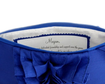 Inscription label for bridesmaids purse- Add-on label