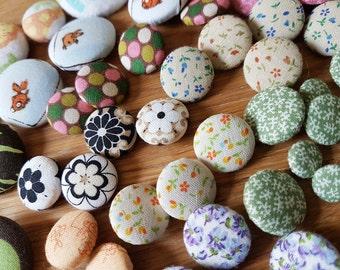 51 Assorted Handmade Fabric Buttons