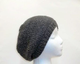Gray knitted beanie hat, mens hats or womens hats   5030