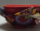 Microwave Bowl Cozy or Potholder Salsa Picante Fabric